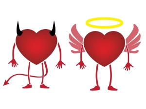 © Simi32 | Dreamstime.com - Heart Devil Or Angel Icon Photo