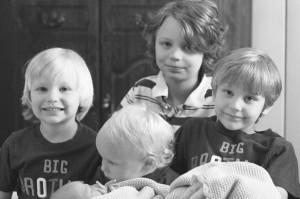 All five Legatzke boys